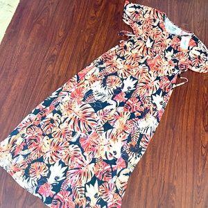 BNWT UV Skinz floral brown & orange dress size L